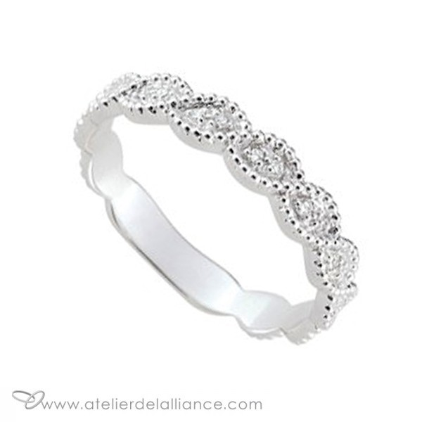 lino alliance originale or blanc contemporaine 10 diamants 0 05ct girard alliances atelier de. Black Bedroom Furniture Sets. Home Design Ideas